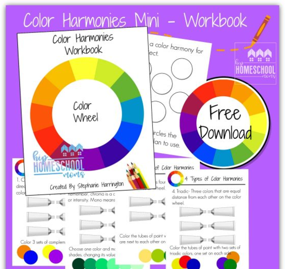 Free Printable Color Harmonies Workbook