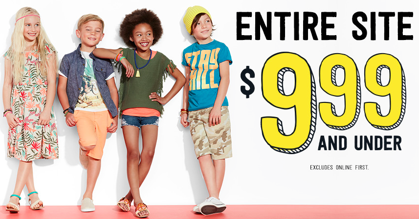 Crazy 8: $9.99 and under sale + free shipping = $6 dresses, $9.99 puffer jackets, plus more!