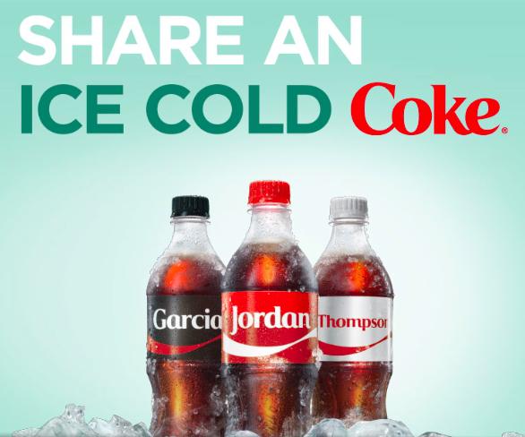 Coca-Cola Share a Coke Instant Win Game (1,000 winners!)