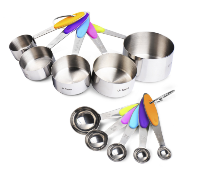 Amazon.com: Stainless Steel Measuring Cups and Spoons 10-Piece Set for just $15.99!