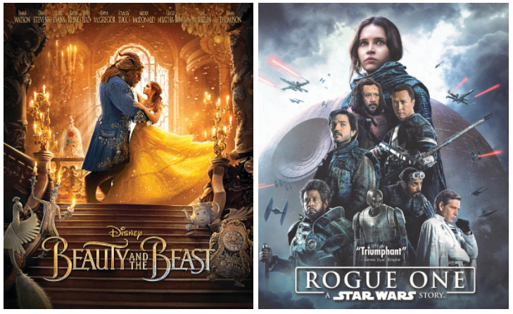Get Beauty & The Beast or Star Wars: Rogue One for just $5 each!