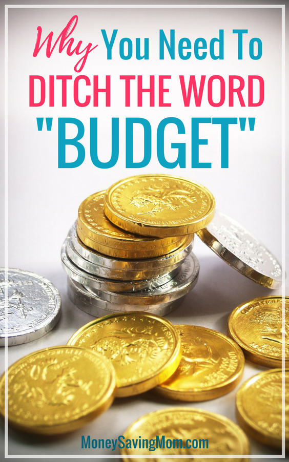 Have a hard time sticking to a budget? Maybe you need to ditch that word altogether in order to be successful! I love this idea!