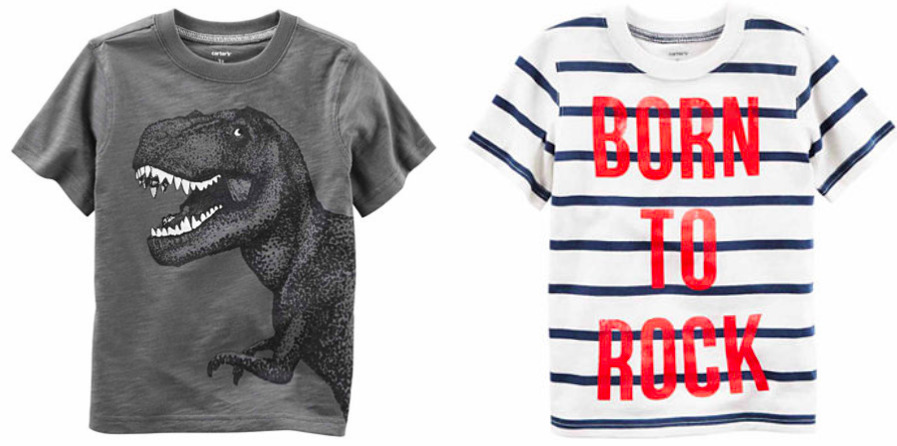 JCPenney.com: Carter's Boys T-Shirts only $1.88 each!