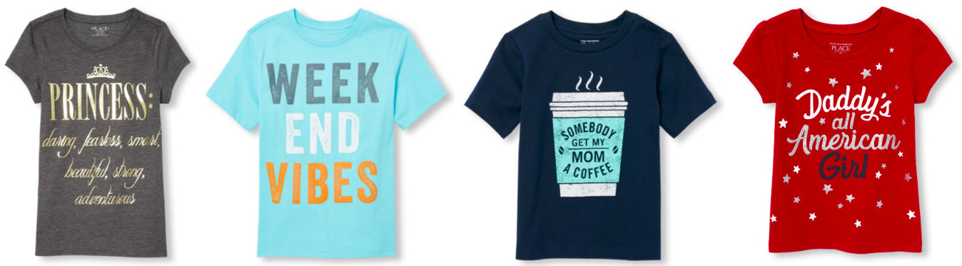 The Children's Place: Short Sleeve Graphic Tees only $2.99 + Free Shipping!