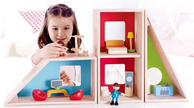 Amazon.com: Hape Geometrics Kid's Wooden Doll House just $35.04!