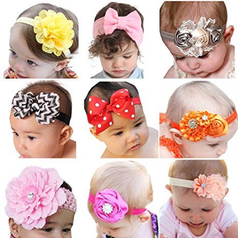 Amazon.com: Roewell Baby Headbands with Bows (9 pack) just $8.51!