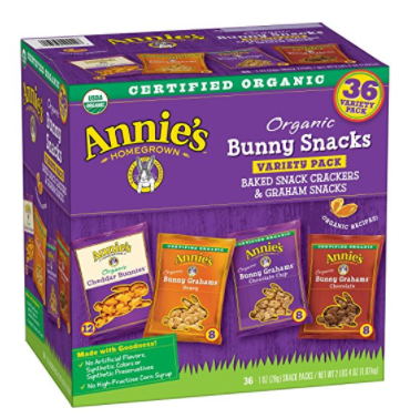 Amazon.com: Annie's Organic Bunny Snacks, 36-count for just $8.54 shipped!