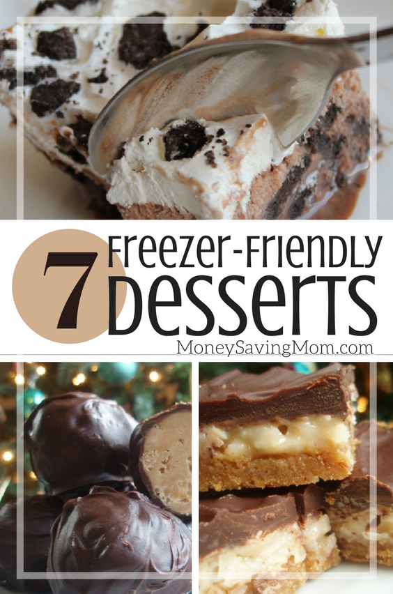Check out this list of fun dessert recipes that you can make ahead of time and freeze for later?