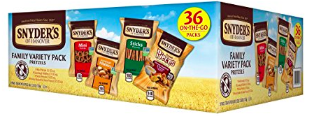 Amazon.com: Snyder's of Hanover Pretzel Variety Pack (36 count) just 8.16 shipped!