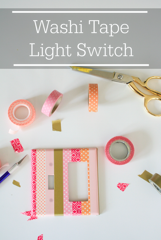 Do It Yourself: Washi Tape Light Switch