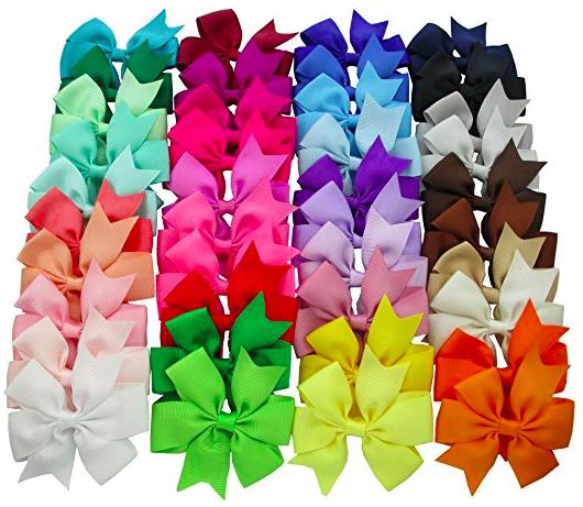 Amazon.com: Ribbon Pinwheel Boutique Hair Bows Clips (40 ct) only $9.99!