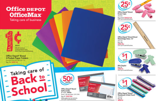 Get $32 worth of school supplies for just $5 at Office Depot/OfficeMax!