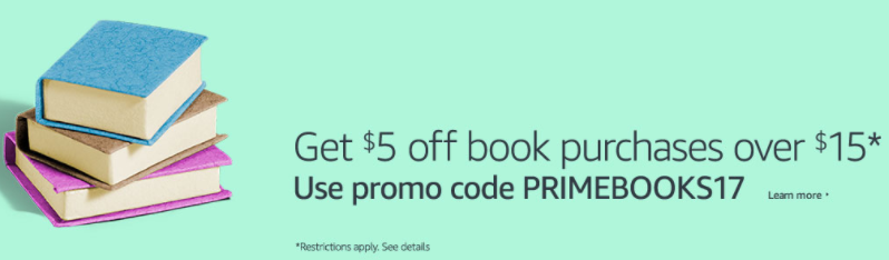 *HOT* Get $5 off any $15 book purchase on Amazon!!
