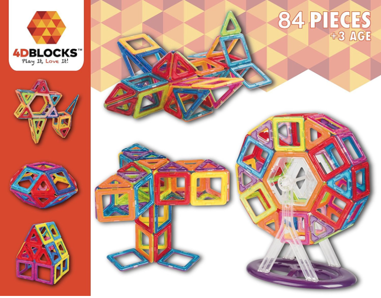 Prime Day Deal: Lowest Prices on 4D Blocks Magnetic Building Sets!