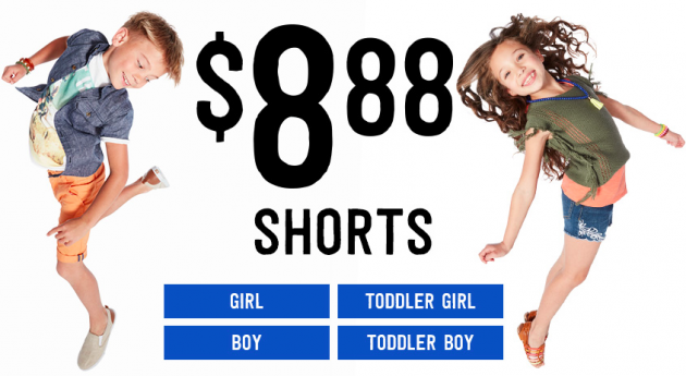 Crazy 8: All Shorts just $8.88 + Free Shipping {today only}!