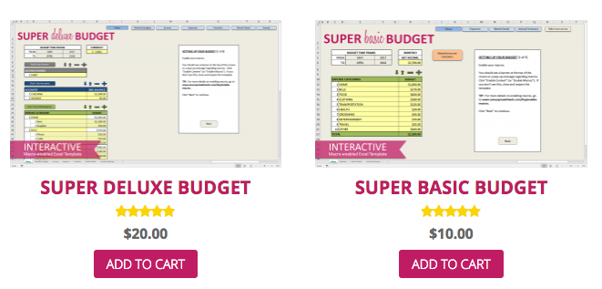 Savvy Spreadsheets: Download a free Super Starter Budget
