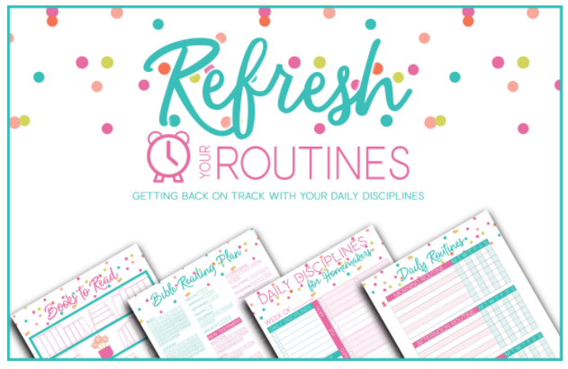 Get a free download of the Refresh Your Routines eKit!