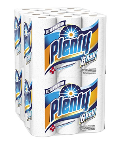Amazon.com: Plenty Ultra Premium Paper Towels, 24-Count for just $16.58 shipped!
