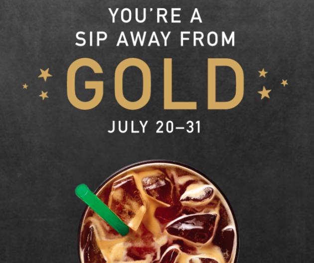 Starbucks Rewards: Instant Gold Member Status!