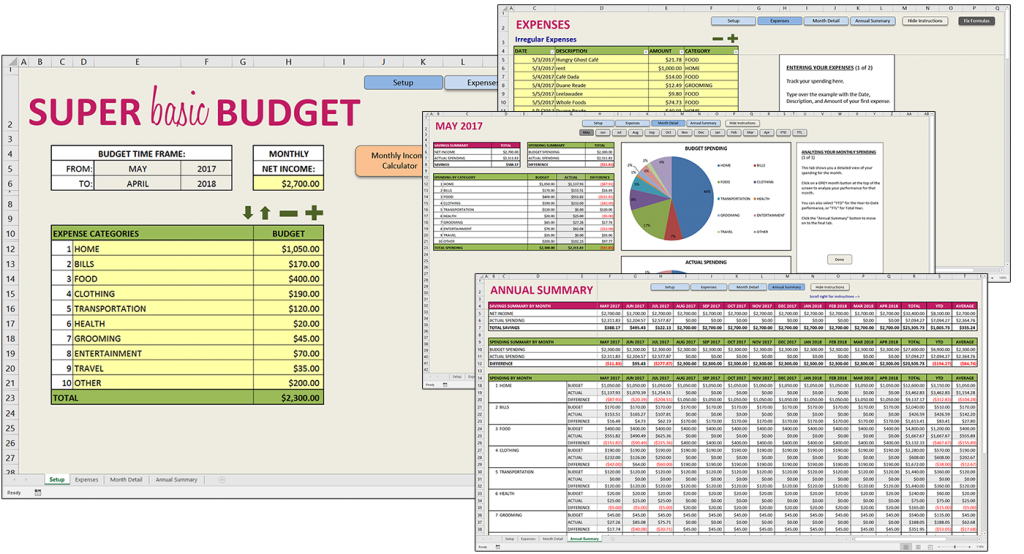 Savvy Spreadsheets Download A Free Super Starter Budget Template