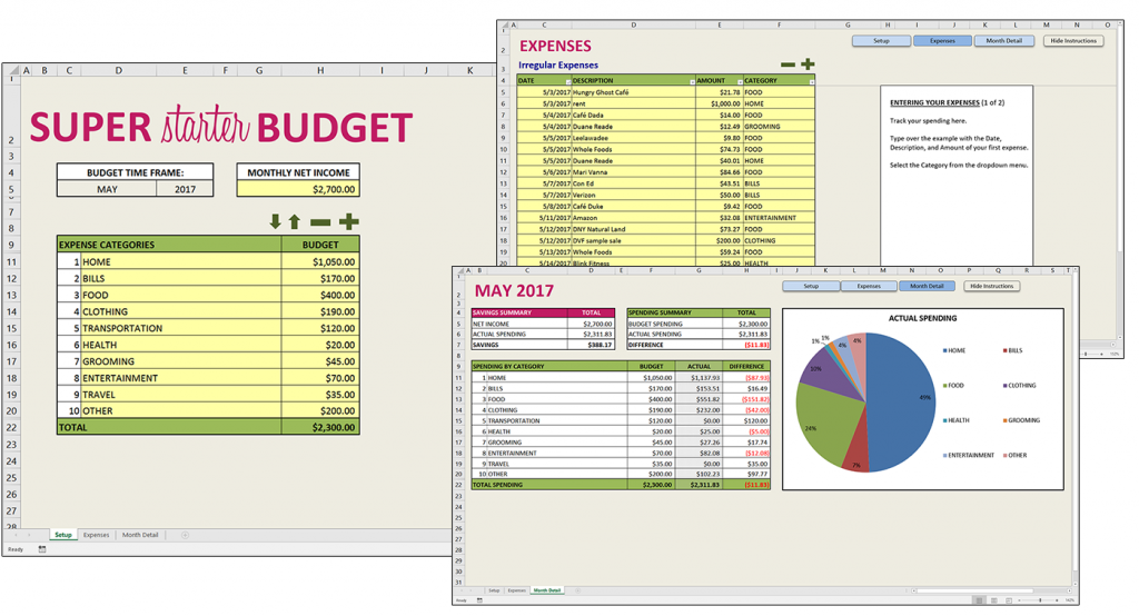 Savvy Spreadsheets: Download a free Super Starter Budget template + ...