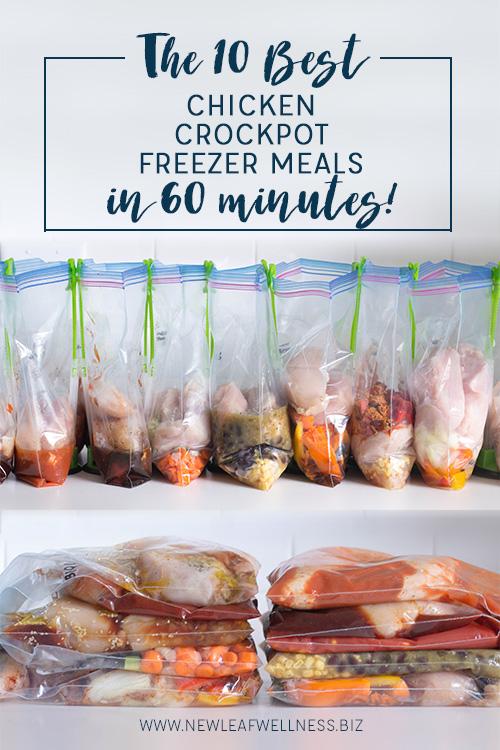 10 Best Chicken Crockpot Freezer Meals in 60 Minutes