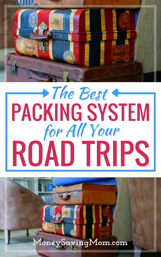 Traveling with kids? This simplified packing system will change your life! Perfect for road trips across the country and more!