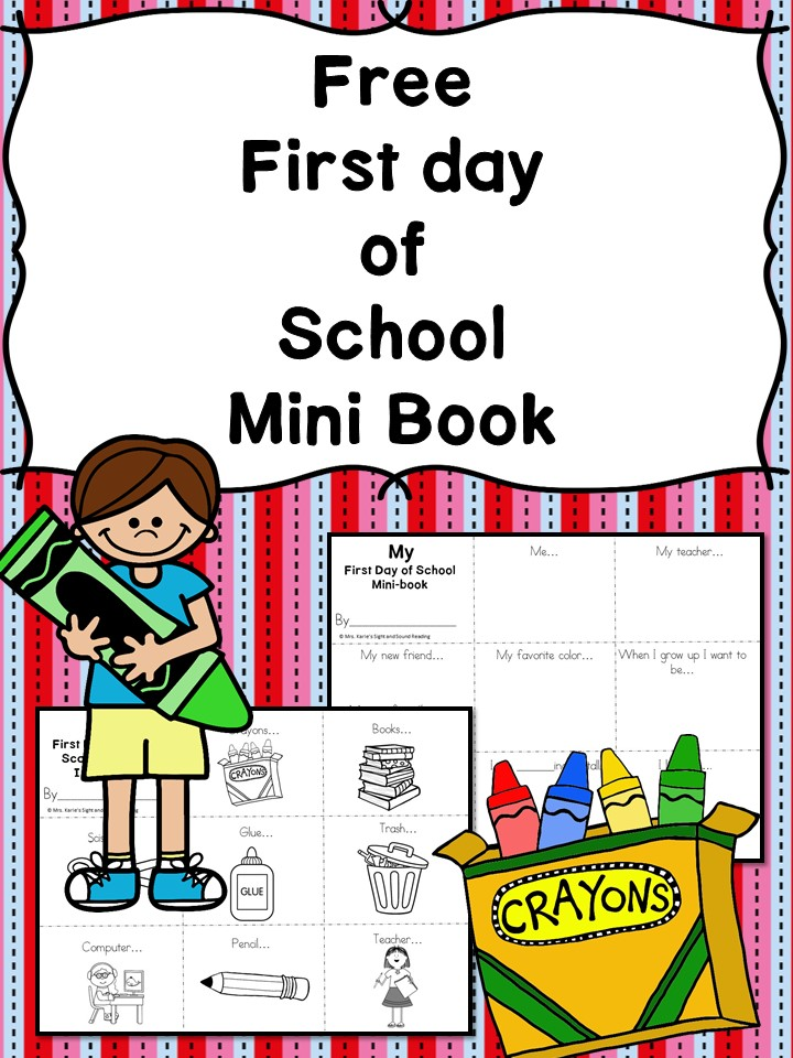 free printable kindergarten first day of school interview book and scavenger hunt - Free Printable Kindergarten Books