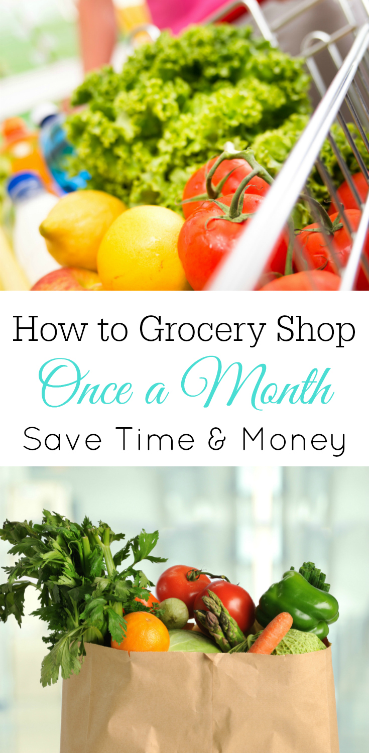 How to Grocery Shop Once a Month to Save Time and Money