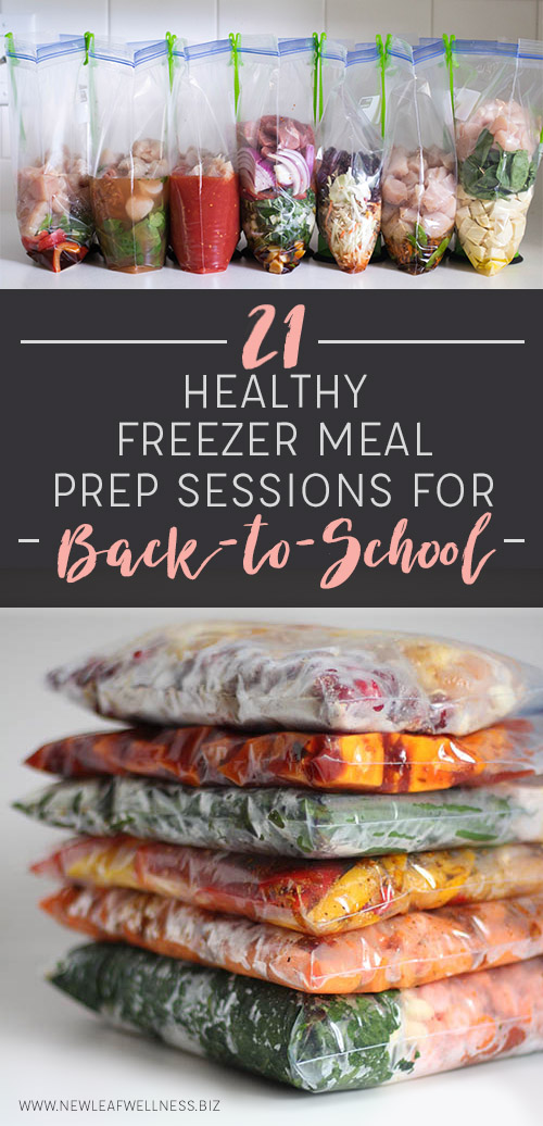 21 Healthy Freezer Meal Prep Sessions for Back-to-School