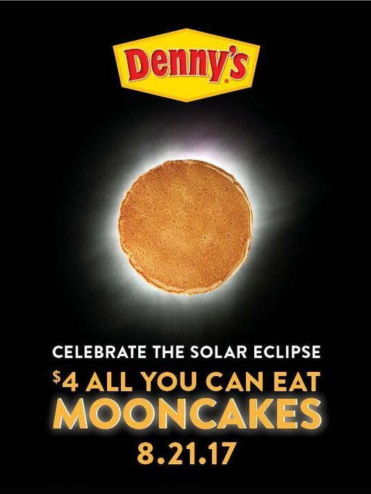 "Denny's: All-You-Can-Eat ""Mooncakes"" on August 21, 2017"