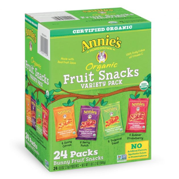 Amazon.com: Annies Organic Bunny Fruit Snacks, Variety Pack (24 count) just $10.17 shipped!