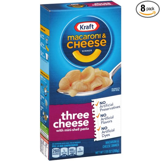 Amazon.com: Kraft Macaroni and Cheese Dinner, Pack of 8 just $8.27 shipped!