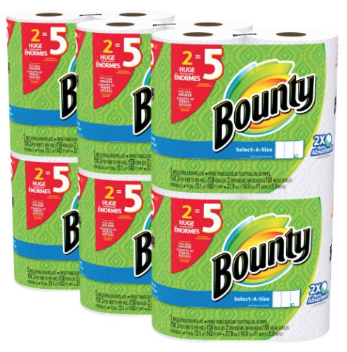 Amazon.com: Bounty Select-a-Size Paper Towels for just $0.73 per regular roll!