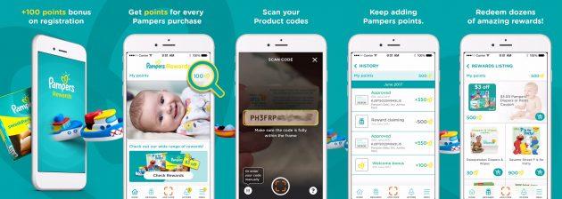 Download the brand new Pampers Rewards app to get 100 free bonus points!