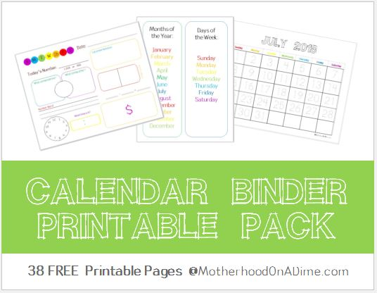 photo about Free Binder Printables named Free of charge Calendar Binder Printable Pack Economic Preserving Mother