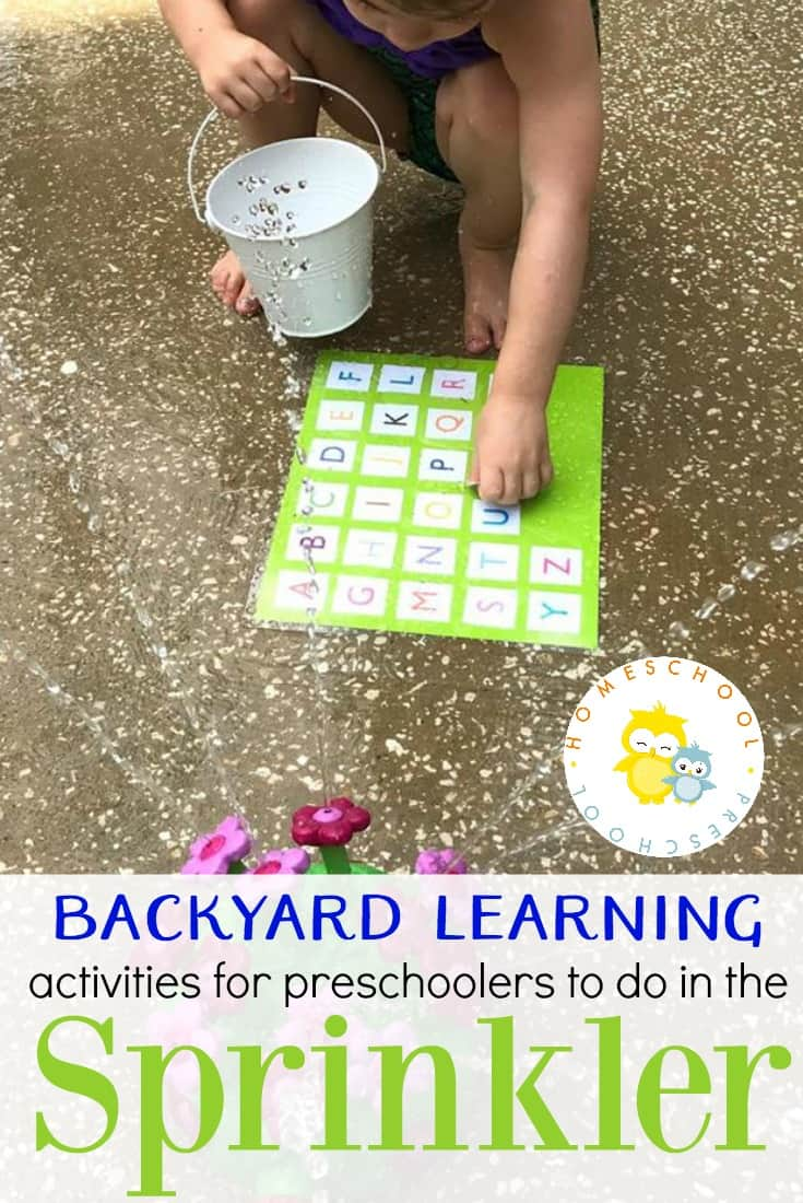Free Printable Backyard Learning Activities for Preschoolers