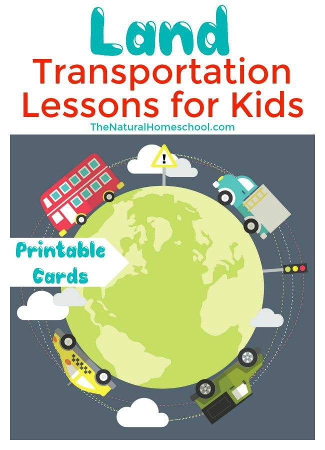 Free Printable Land Transportation Lessons for Kids