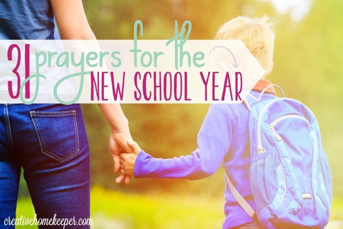 Free Printable Prayer Calendar for the School Year