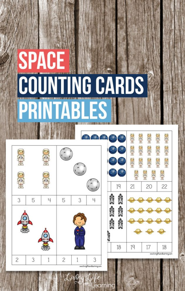 Free Printable Space Counting Cards