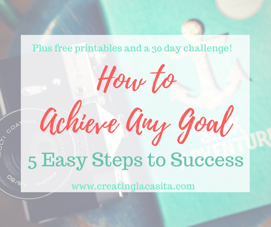 Free Goal Setting Challenge and Printables