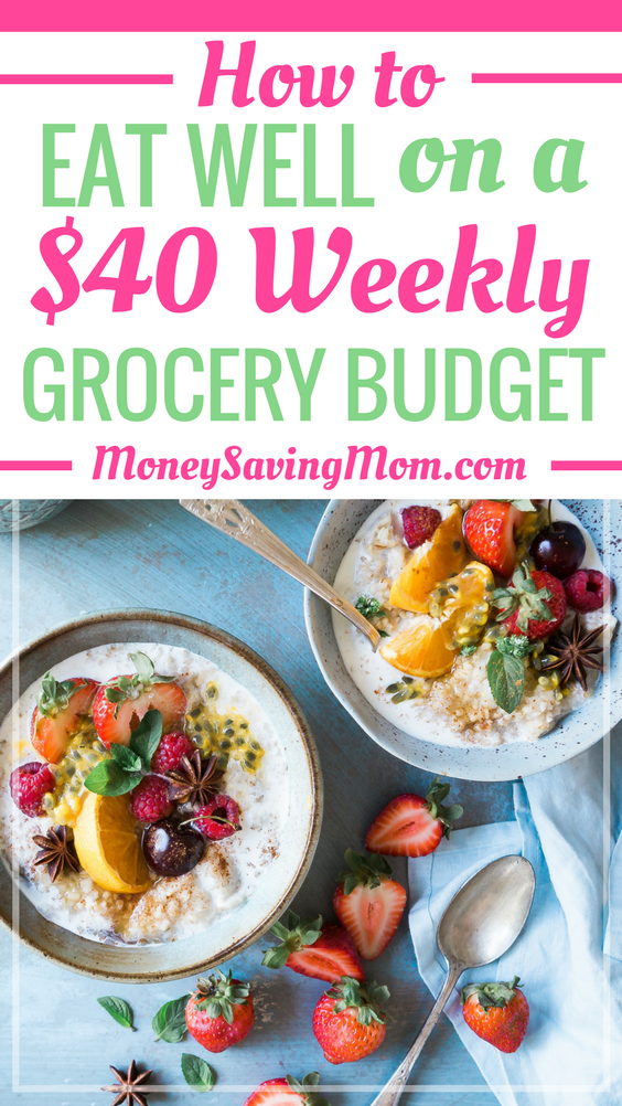 You can eat well on a low grocery budget, and this post shows you how! It's really possible! This list of 20 tips is SO helpful -- especially for someone who lives alone and is trying to eat really healthy!
