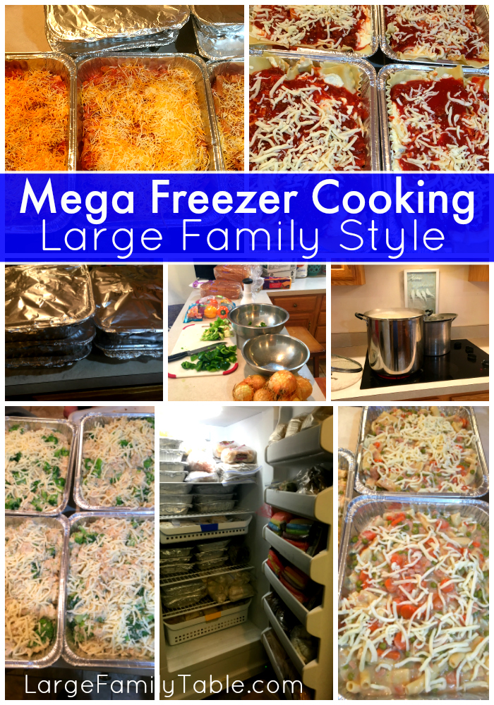 Mega Freezer Cooking Session for a Large Family (60+ Meals!)