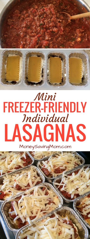 prep for mini freezer-friendly lasagnas