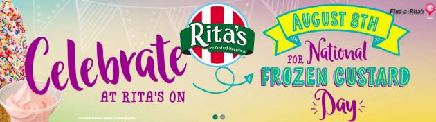 Rita's: Frozen Custard only $0.99 {today only!}