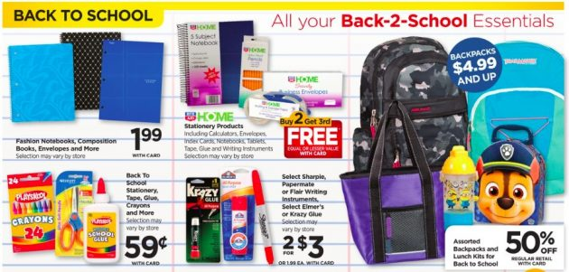 rite aid back to school deals for the week of august 13 2017