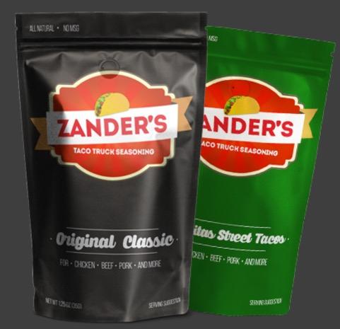 Free Zander's Taco Truck Seasoning Sample