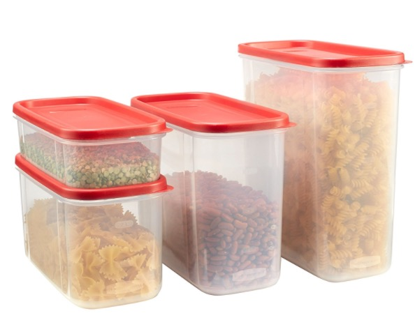 Amazon.com: Rubbermaid 4-Piece Food Storage Container Set for just $15.97!