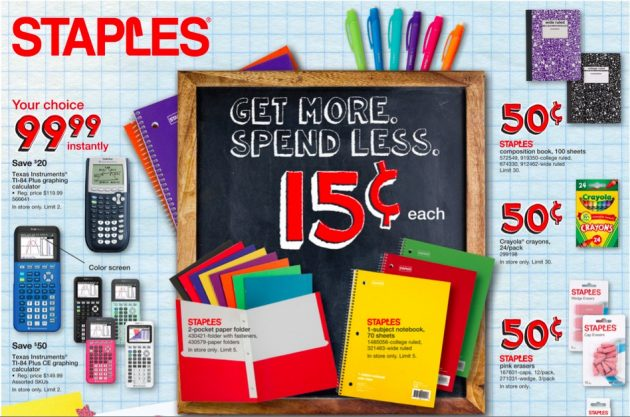 Here Are The Best Back To School Deals At Staples For Week Of August 20 2017