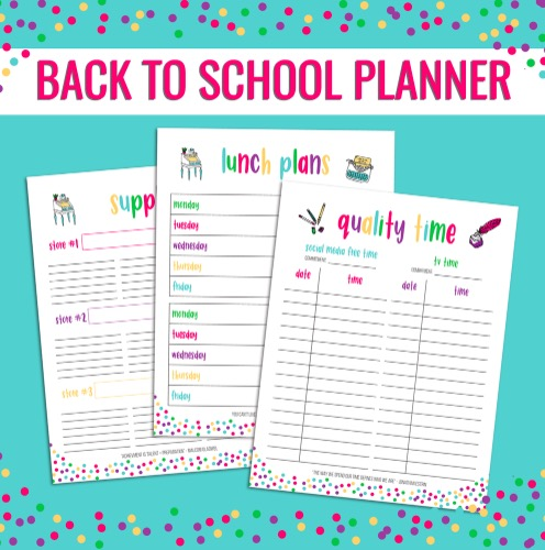 Free Printable Back to School Planner